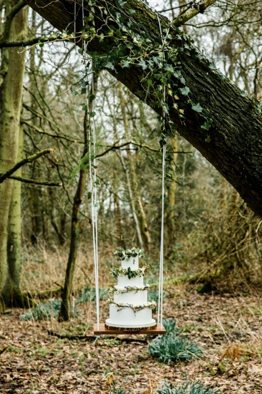 Woodland Luxe cake