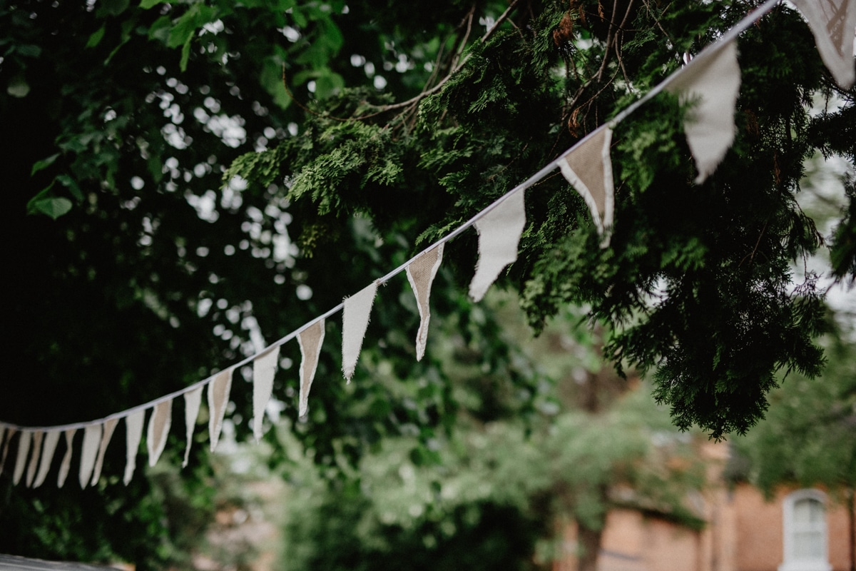 Rheannie and Samuel DIY Garden Wedding - bunting