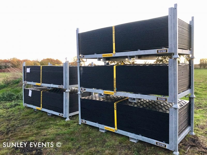 Sunley Events - Ground Mats Stillages