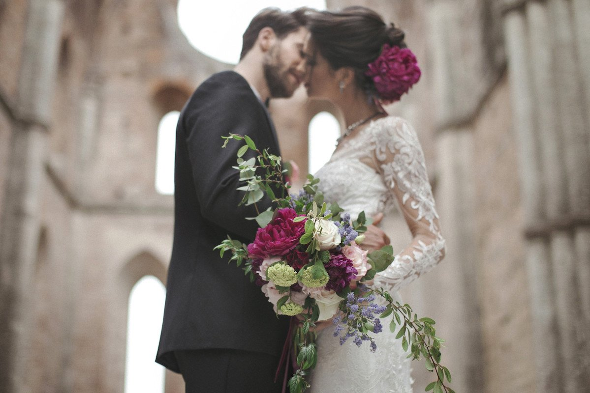 Baroque inspired outdoor wedding