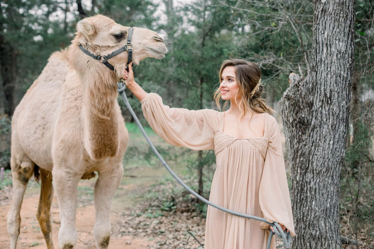 exotic ranch wedding shoot